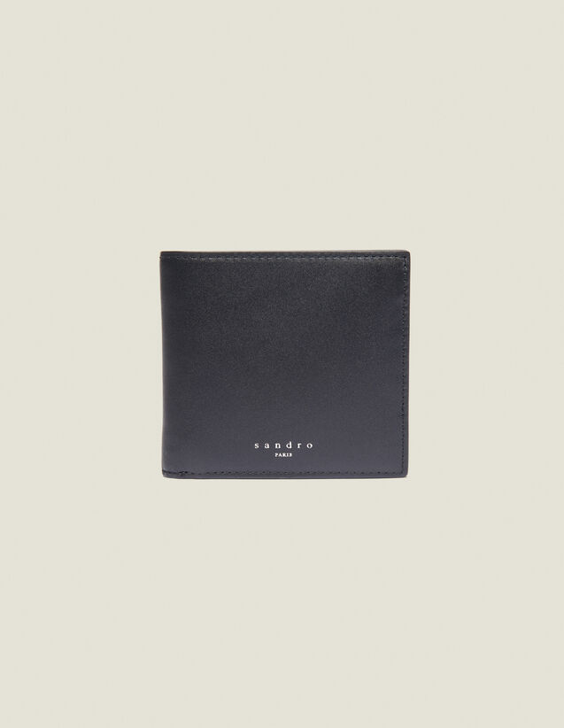 Smooth Leather Wallet With Flap : Summer Collection color Black