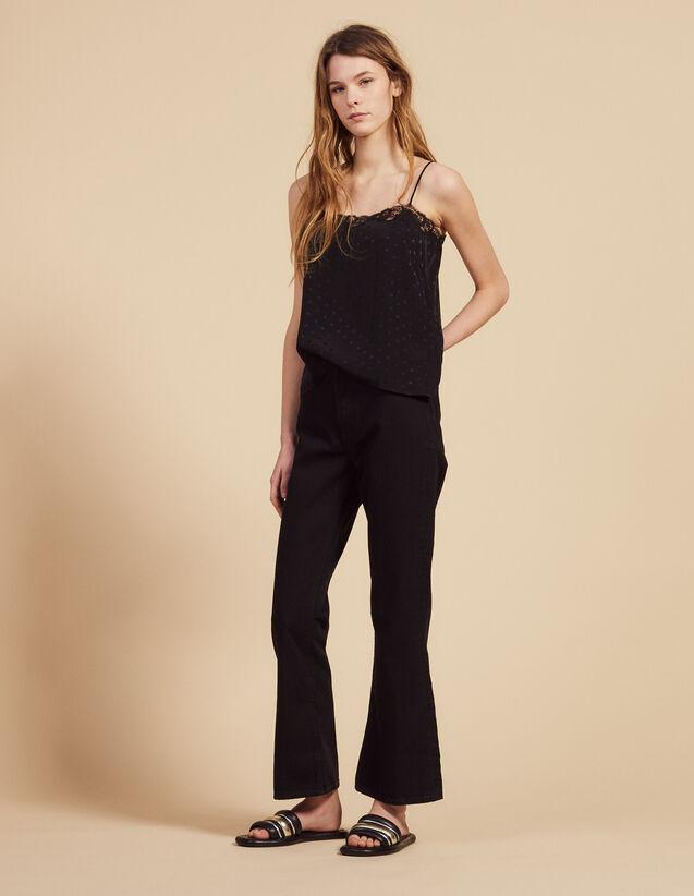 Flared Jeans : Jeans color Black