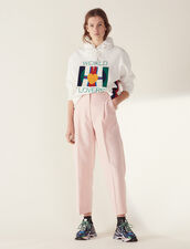 Matching 7/8-Length Tailored Trousers : null color Pink