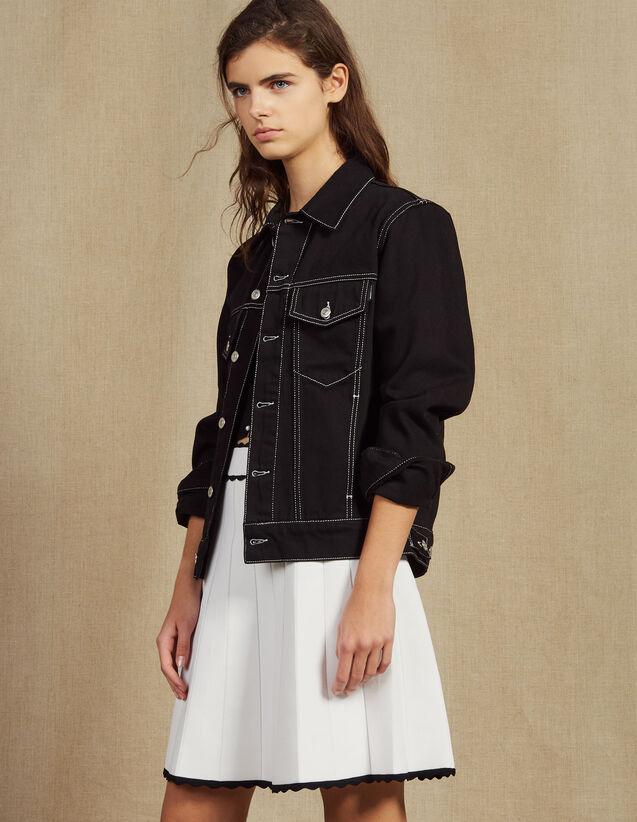 Pleated Effect Short Knit Skirt : LastChance-FR-FSelection color Ecru