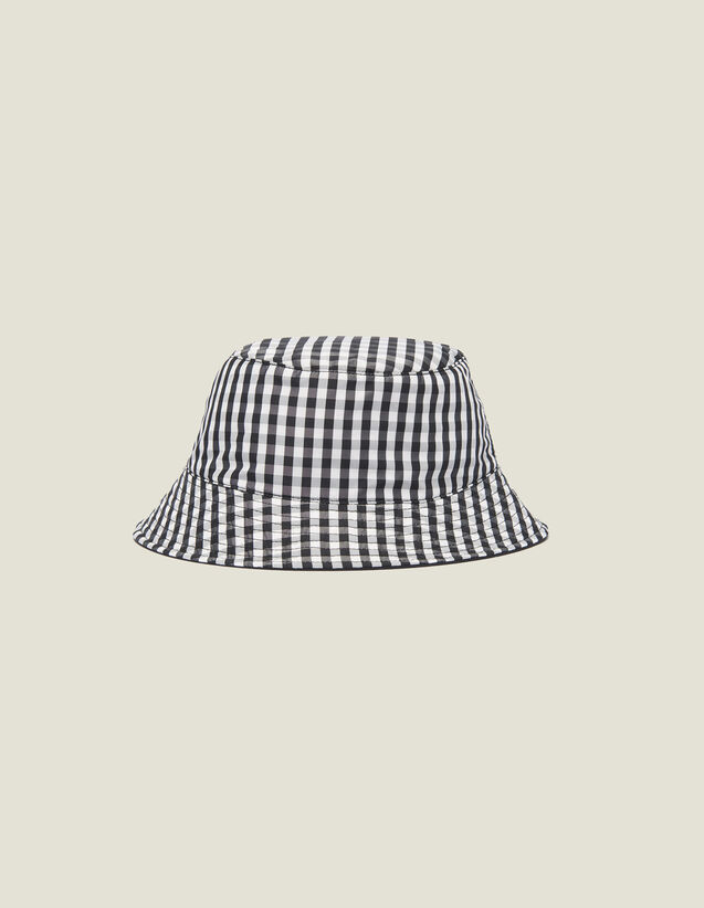 Reversible Cotton Hat : Caps color Black/White
