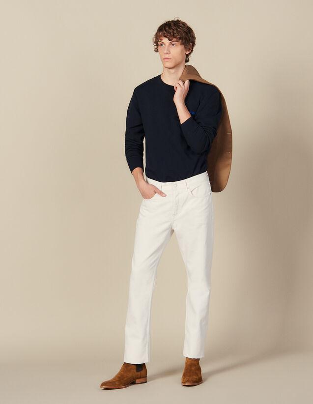 Cotton Slim-Fit Jeans : Winter Collection color white