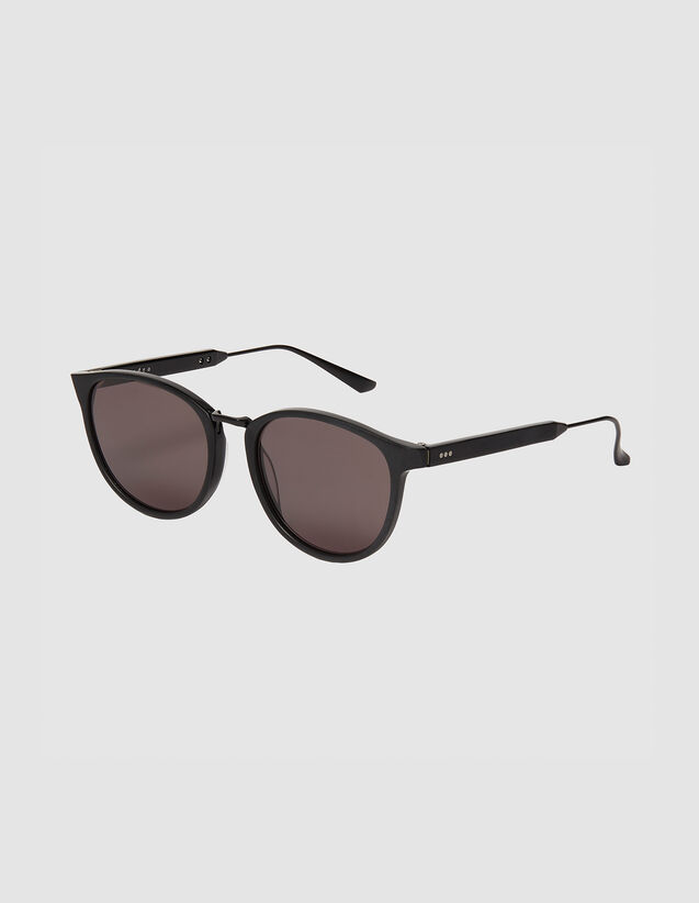 Rectangular Sunglasses : Sunglasses color Black