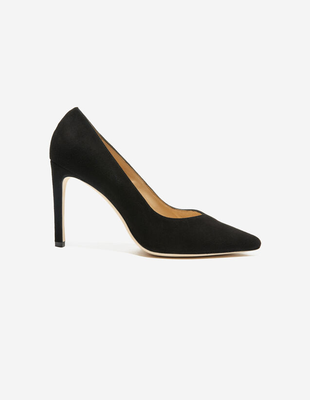 V-Cut Pumps : All Shoes color Black