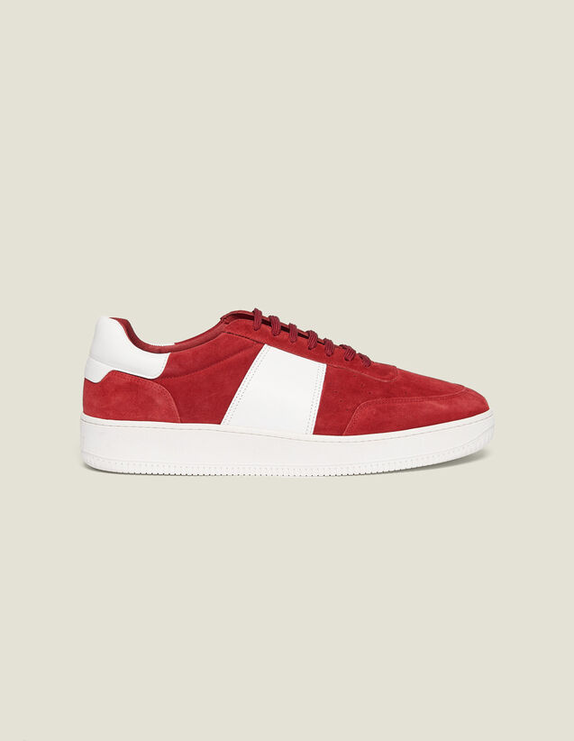 Leather Trainers : Shoes color Red