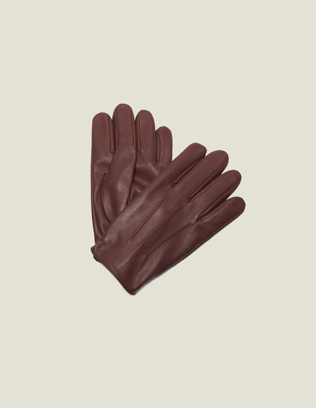 Leather gloves : Gloves & Hats color Black