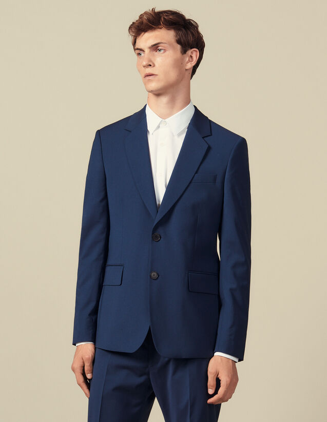 Classic Super 110 Suit Jacket : All Winter collection color Petrol