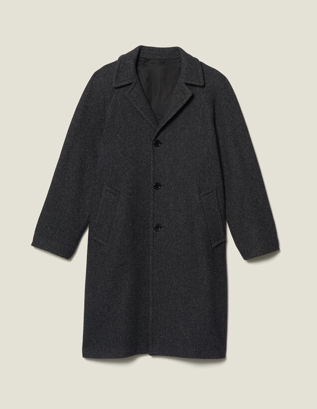 Long wool coat : Trench coats & Coats color Mocked Grey