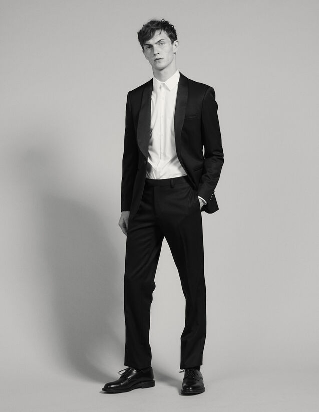 Grain De Poudre Tuxedo Trousers : Suits & Tuxedos color Black