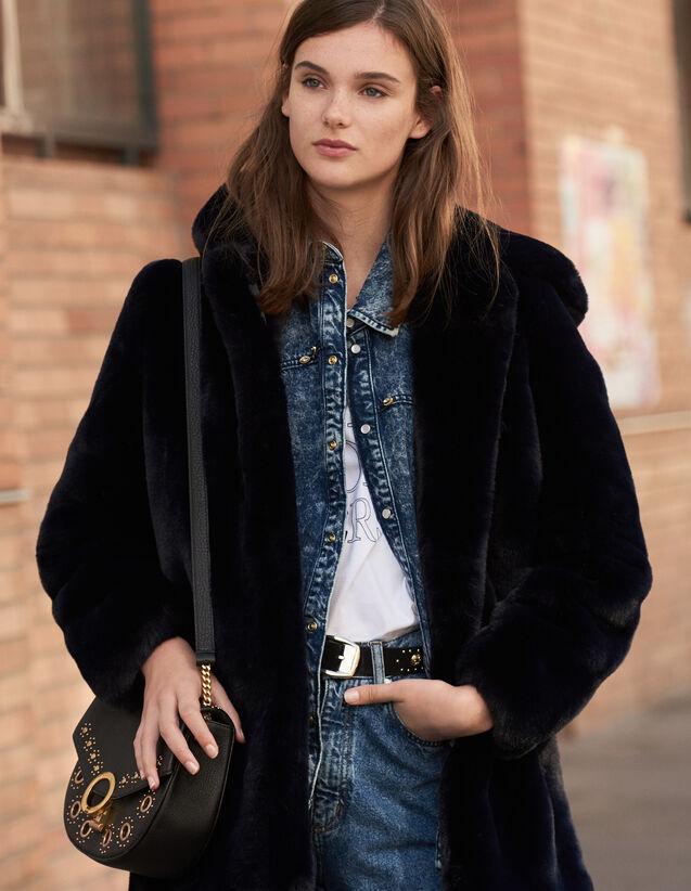 Faux Fur Coat : Coats color Camel