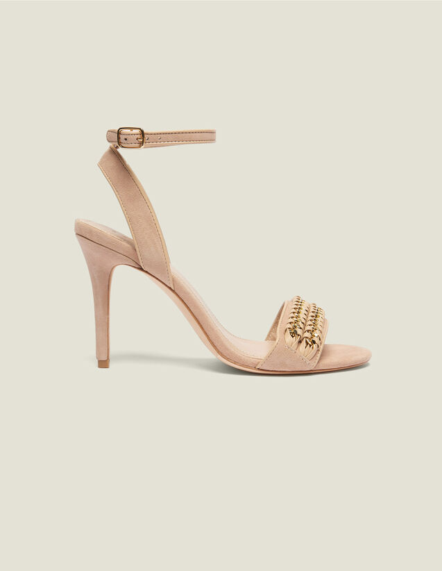 Sandals With Chain Woven Details : LastChance-FR-FSelection color Nude