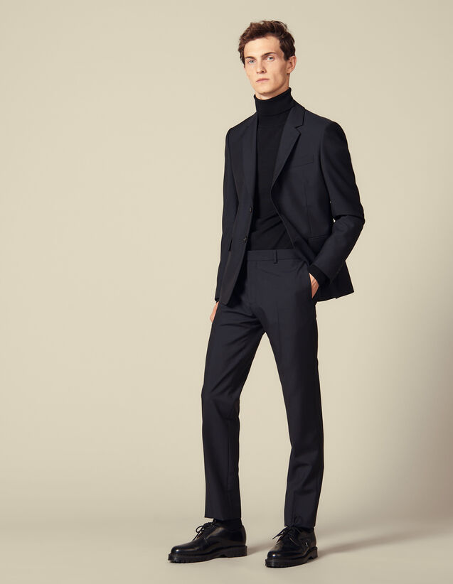 Classic suit trousers : Suits & Tuxedos color Navy Blue