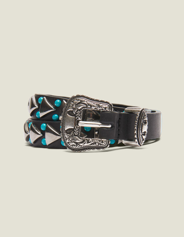 Narrow Belt With Western Buckle : Belts color Black