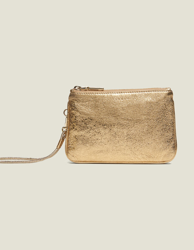Addict Pouch : Small Leather goods color Full Gold