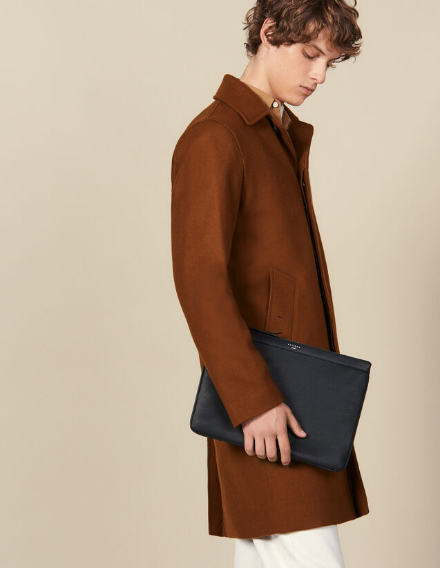 Zipped pouch : All Leather Goods color Black