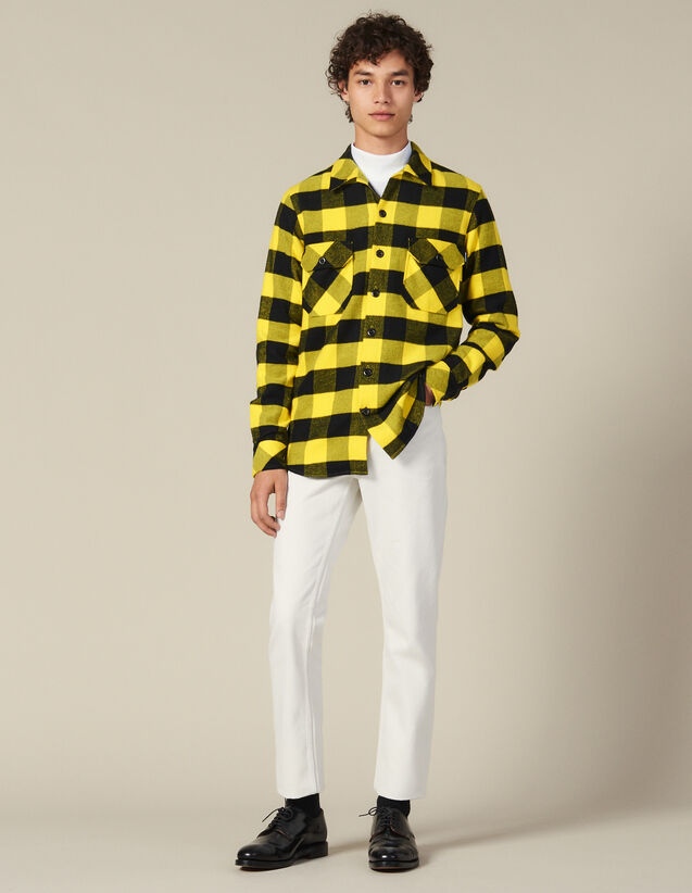 Checked cotton shirt : All Winter collection color Yellow