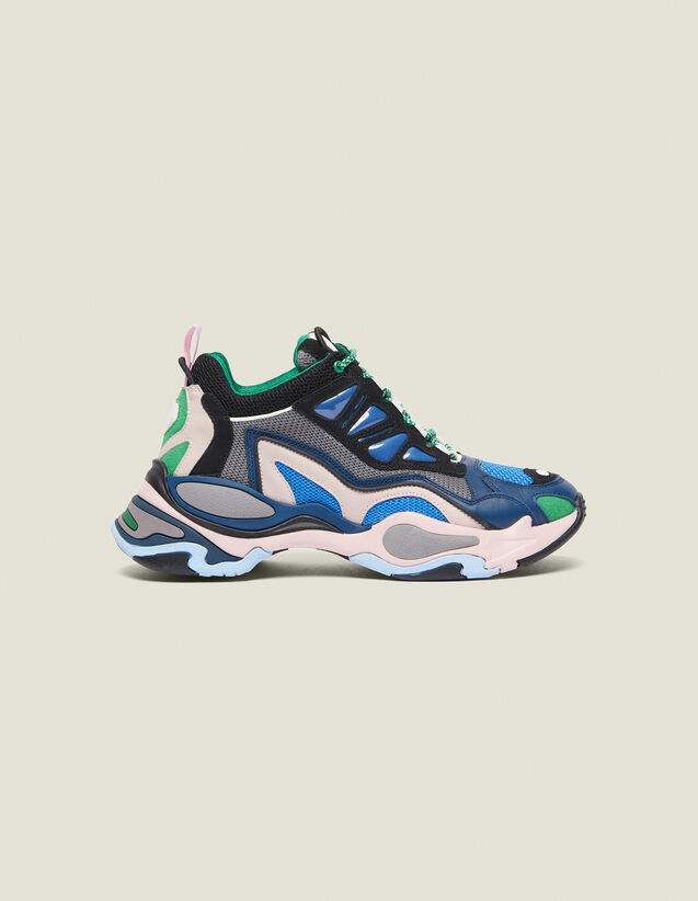 Astro Trainers With Graphic Soles : Summer Collection color Azur blue