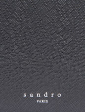 Saffiano Leather Wallet With Flap : Card Holders & Wallets color Black