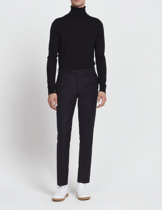 Slim-fit striped trousers : All Selection color Navy Blue