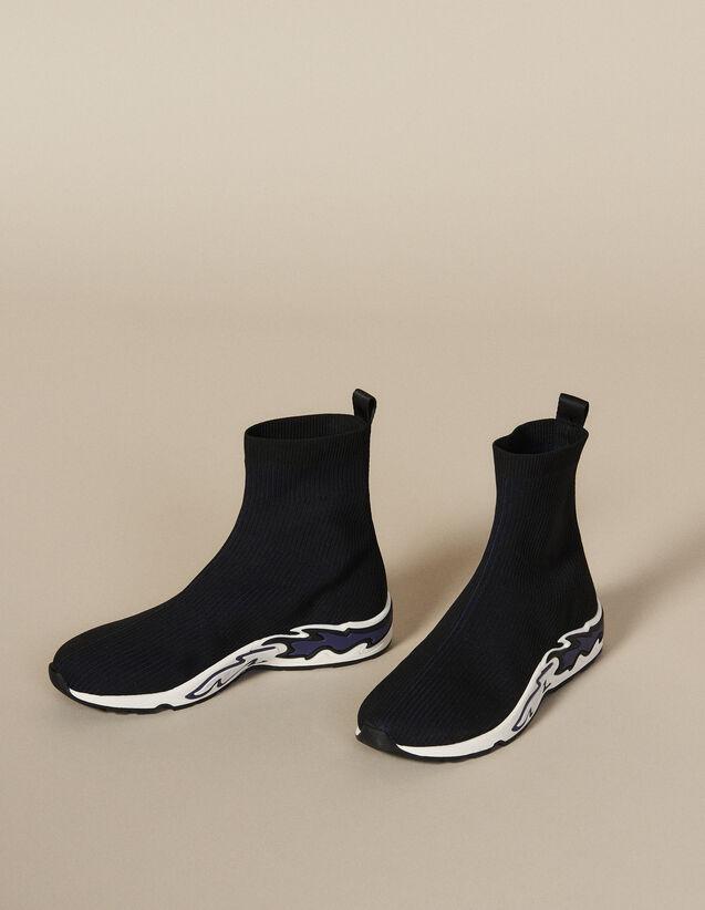Flame Sock Trainers : All Shoes color NOIR/BLEU