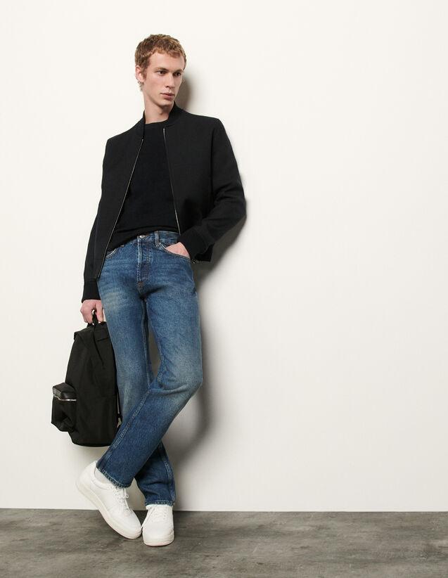Washed denim : Jeans color Blue Vintage - Denim