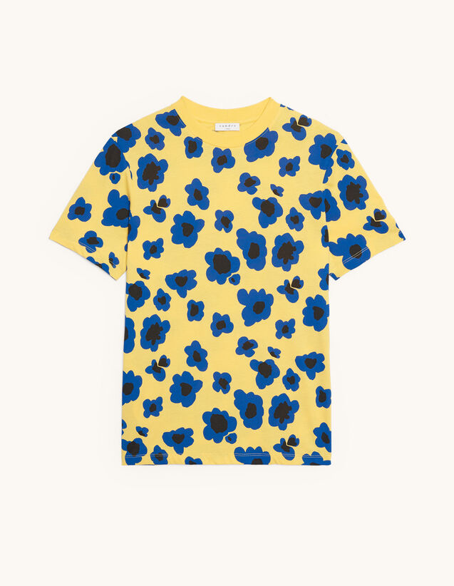 Printed T-shirt : New Summer Collection color Yellow