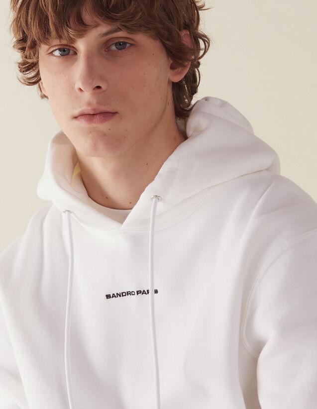 Hoodie Sweatshirt With Logo Embroidery : Sweatshirts color Black