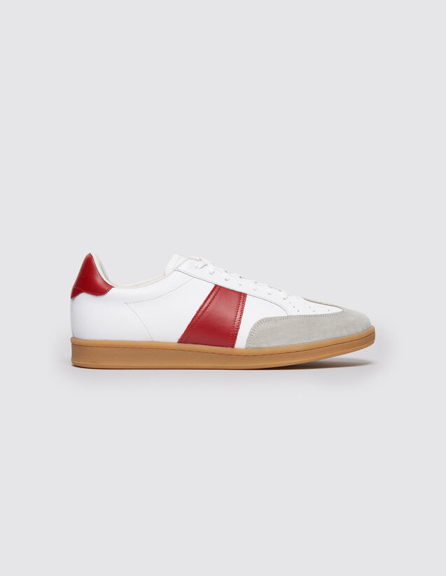 Low-top trainers with contrasting sole : All Selection color white