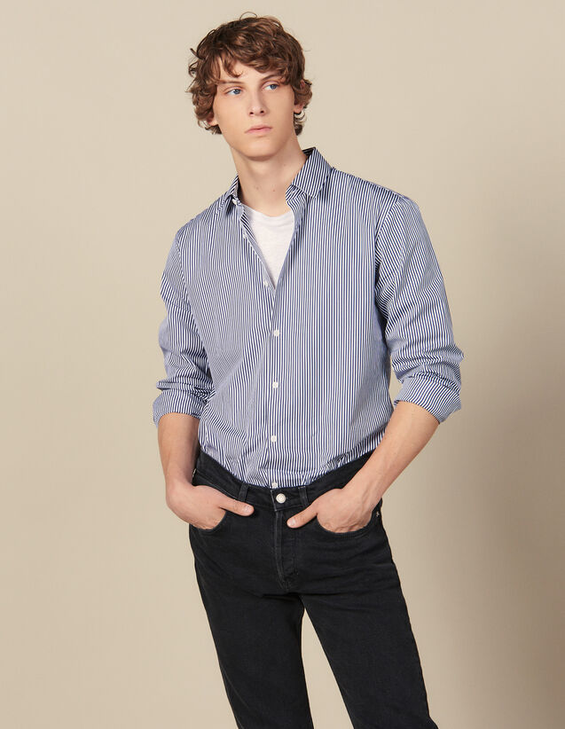 Striped Shirt : All Winter collection color Navy/White