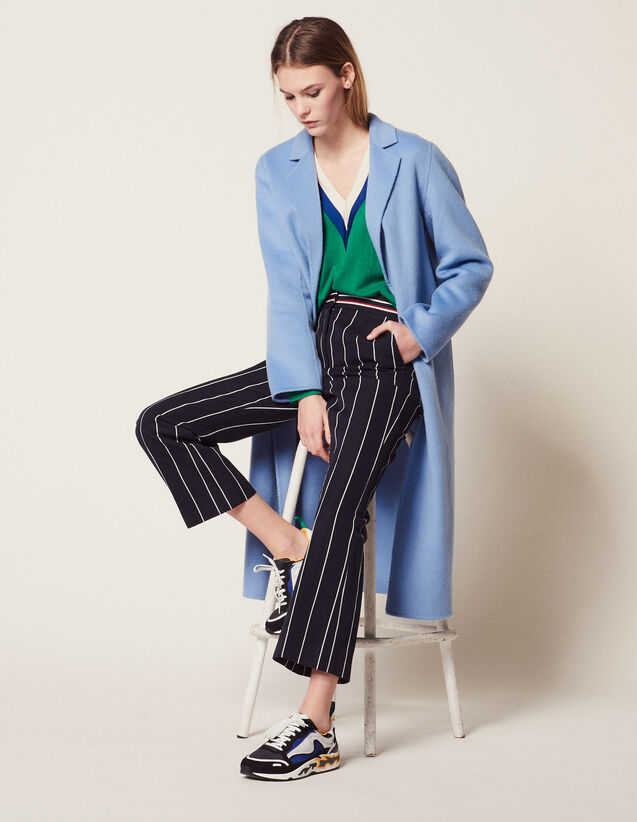 Double-Sided Wool Coat : Coats color Sky Blue
