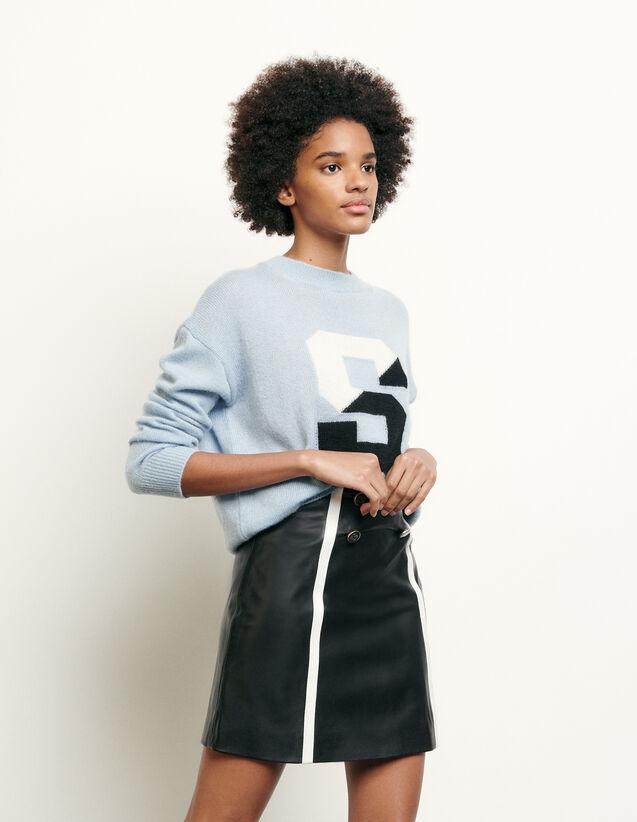 Jupe courte en cuir : FNouvelle-Collection-Ete couleur Noir