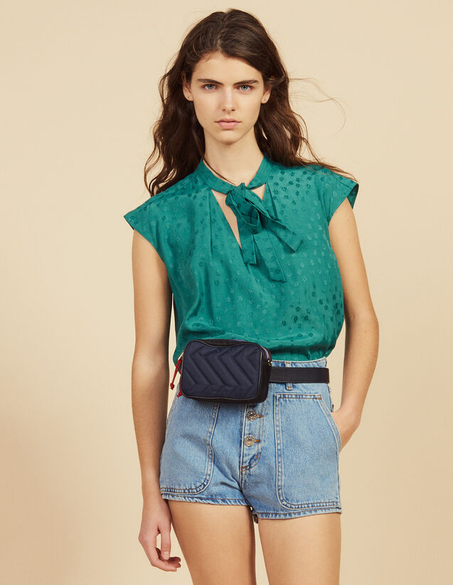 Sleeveless Top With Tie Neckline : LastChance-FR-FSelection color Green