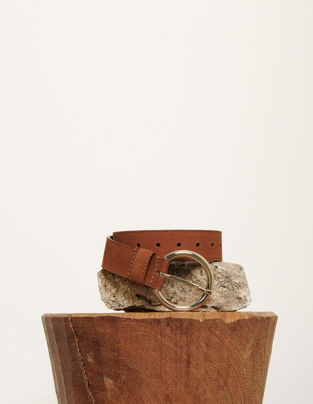 Ceinture en cuir : FCollection-Hiver-Acc couleur Marine Foncé