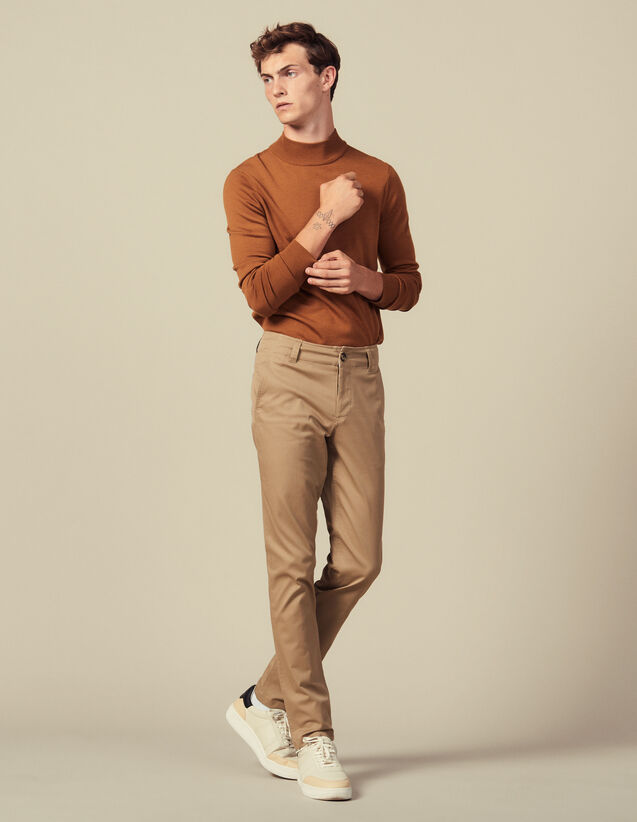 Cotton Chinos : Pants & Shorts color Beige