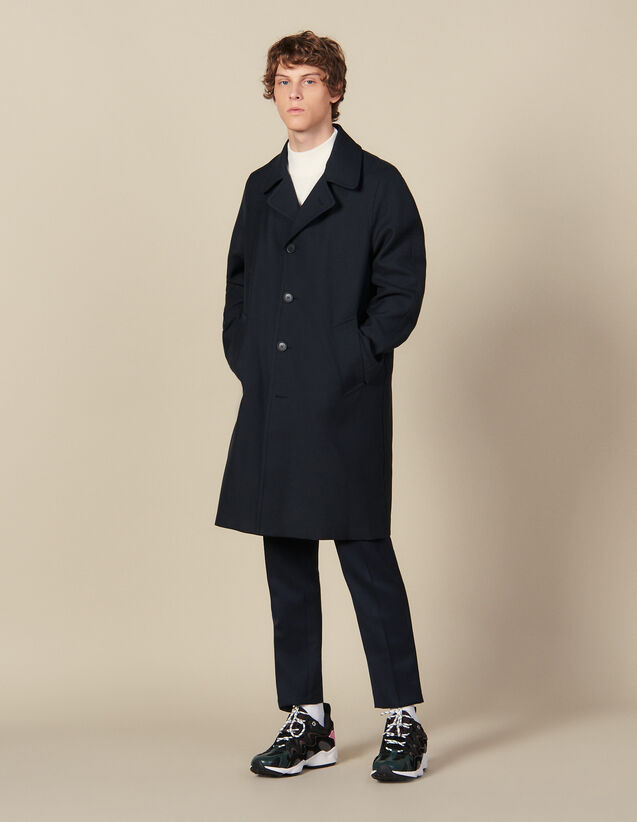 Town Coat : Trench coats & Coats color Navy Blue