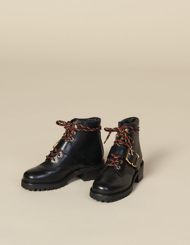 Smooth Leather Ranger Boots : New In color Black