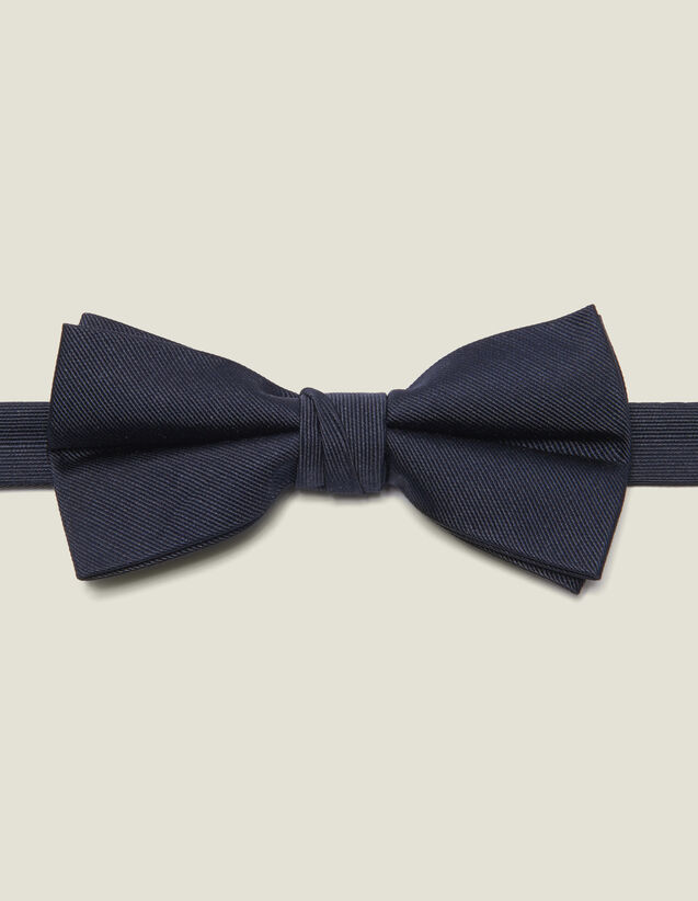 Silk twill bow tie : Ties & Bow Ties color Navy Blue