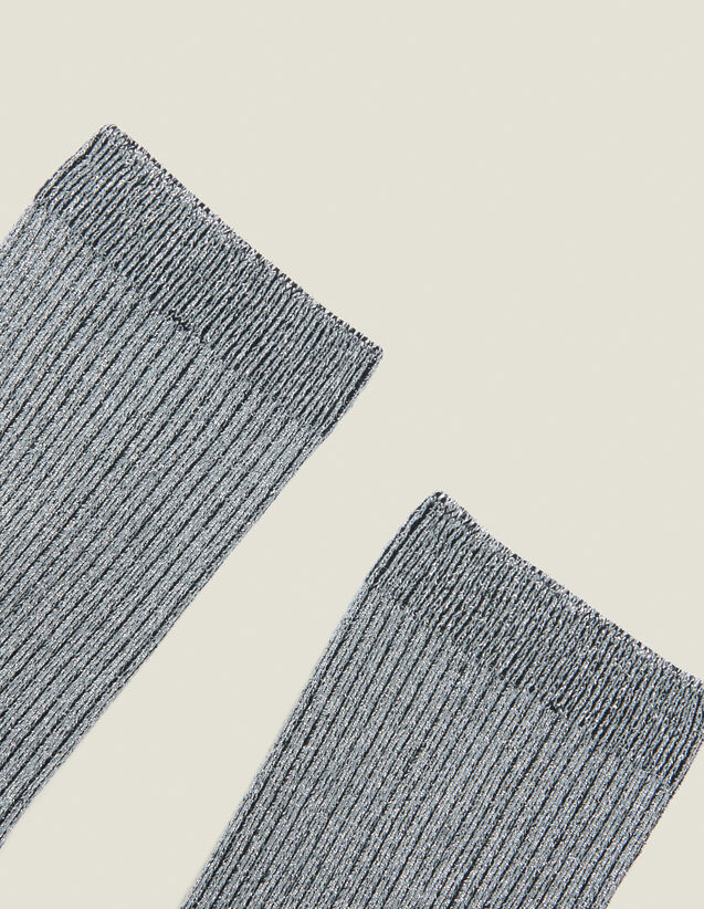 Lurex Socks : Socks color Silver