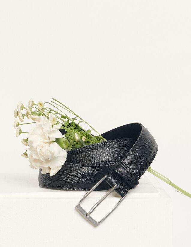 Saffiano leather belt : Belts color Black