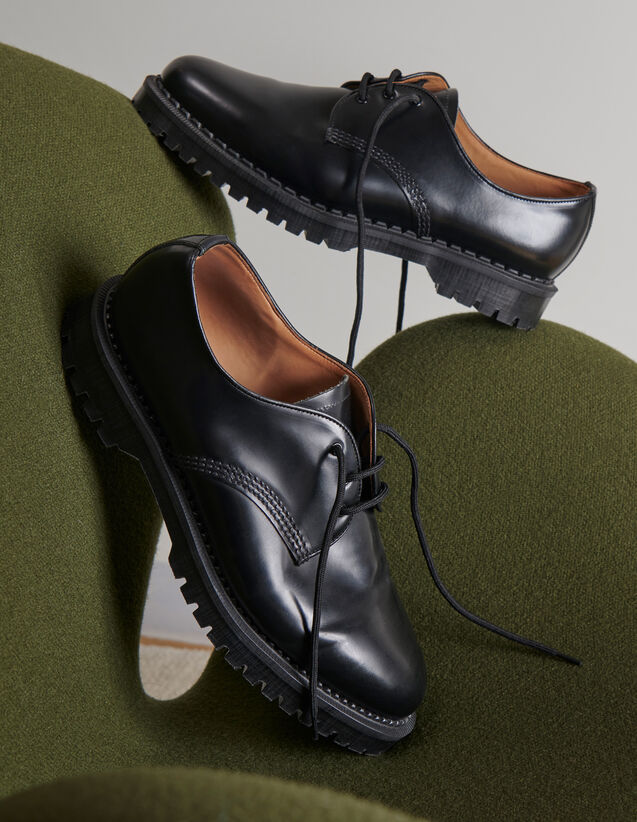 Derby shoe with studs : Shoes color Black