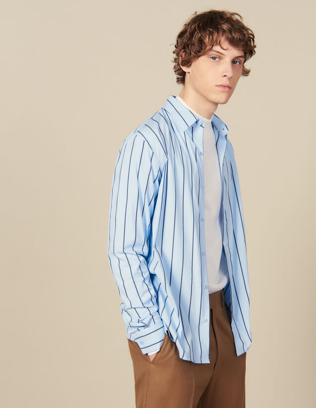 Striped Shirt : All Winter collection color BLUE / BLACK