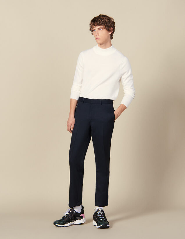 Classic Trousers : All Winter collection color Navy Blue