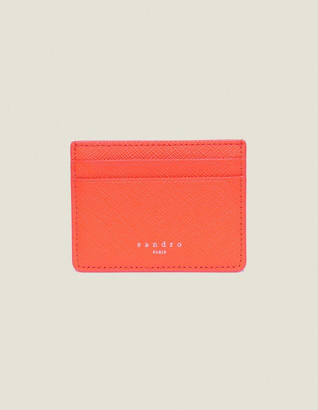 Leather Card Holder : Summer Collection color Orange