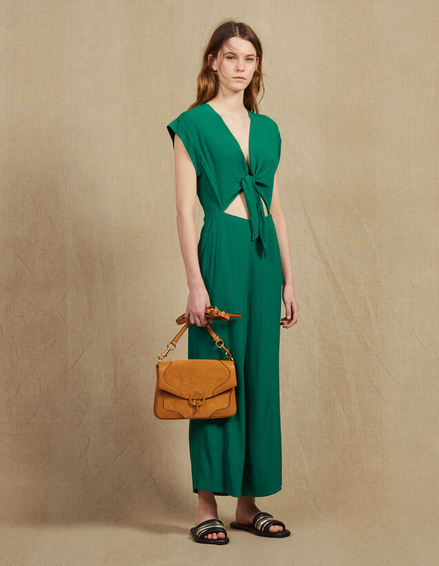 Jumpsuit With Tie Fastening On The Top : LastChance-FR-FSelection color Green