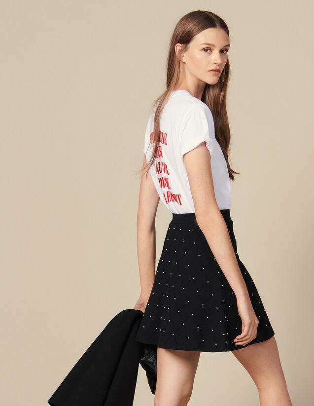 Jupe Courte En Maille : Jupes & Shorts couleur Noir