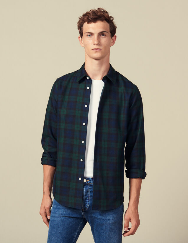 Tartan Shirt : Winter Collection color Dark green