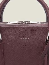 Saffiano leather briefcase : All Leather Goods color Bordeaux