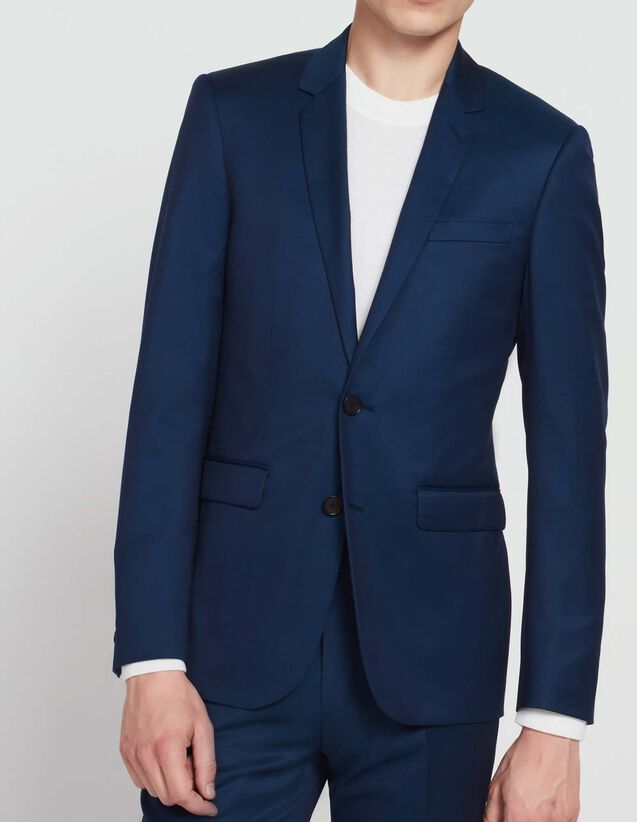 Super 120's wool suit jacket : All Selection color Indigo