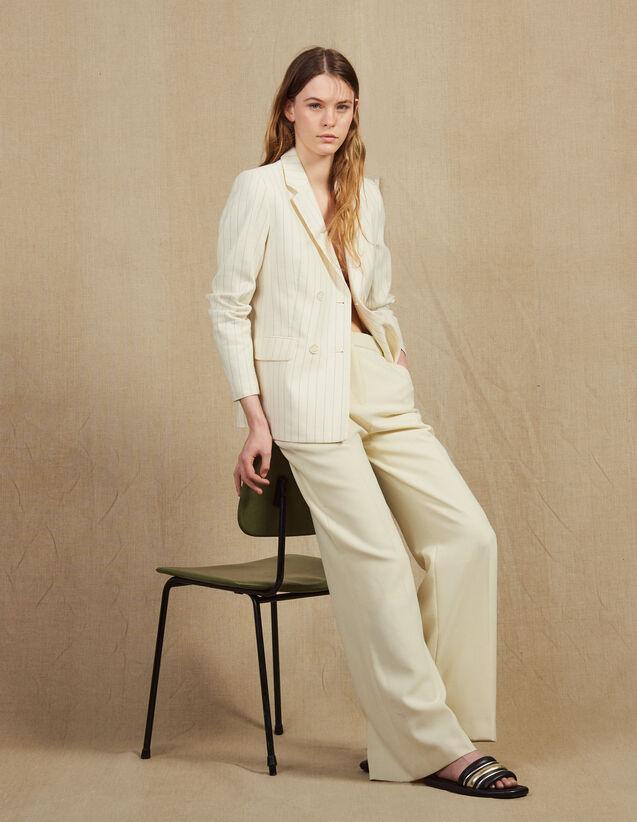 Tailored Trousers : Pants color Ecru