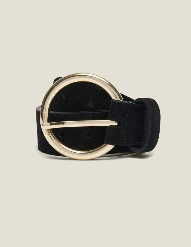 Split Leather Belt : Belts color Black